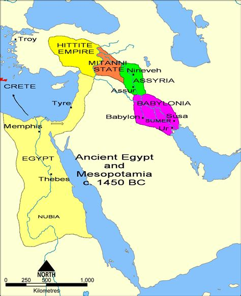 map of ancient near east assyria