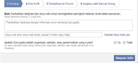 cara membuat fanpage online shop cara membuat facebook fanpage untuk bisnis online
