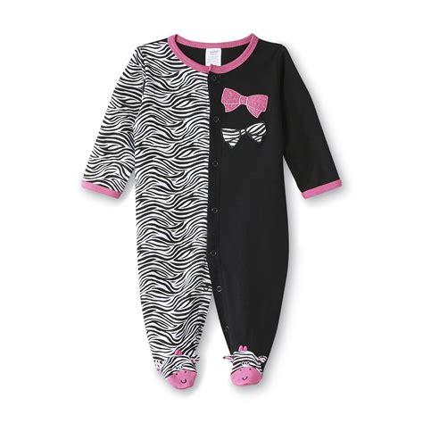 Sleepers Pajamas by Tender Kisses Infant S Sleeper Pajamas Zebra Bows