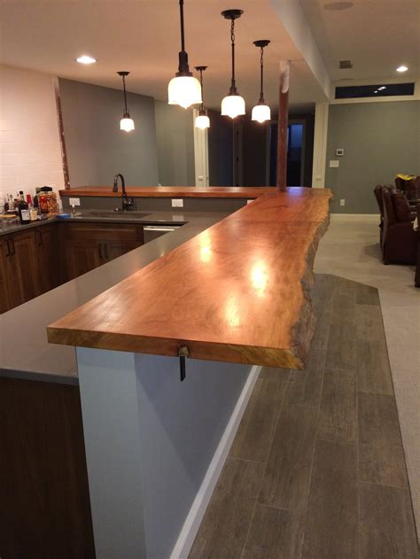 Bar Top Edge by Counter Bar Tops Live Edge Workshop