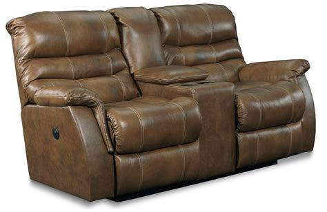 double recliners with console garrett double reclining console loveseat from lane 328