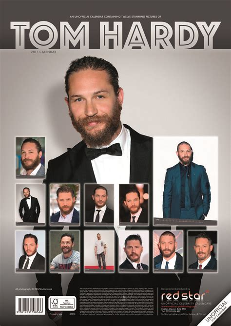 Calendar 2018 Tom Hardy Kalender 2018 Tom Hardy Bei Europosters
