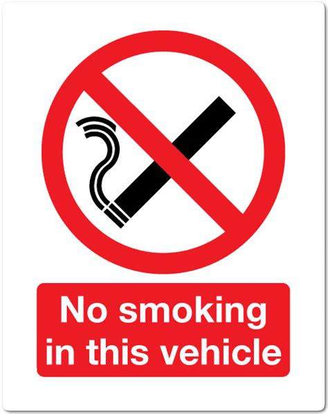 no smoking sign for vehicles smoking while driving driving test tips