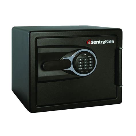 sentrysafe 0 8 cu ft resistant safe with electronic