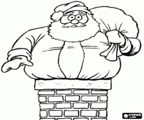 coloring pages santa chimney santa in troubles and the chimney coloring page printable game
