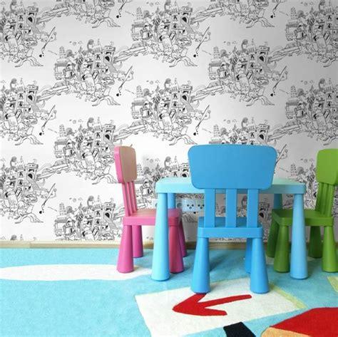 tapisserie chambre enfant papier peint tendance 50 id 233 es pour une maison moderne