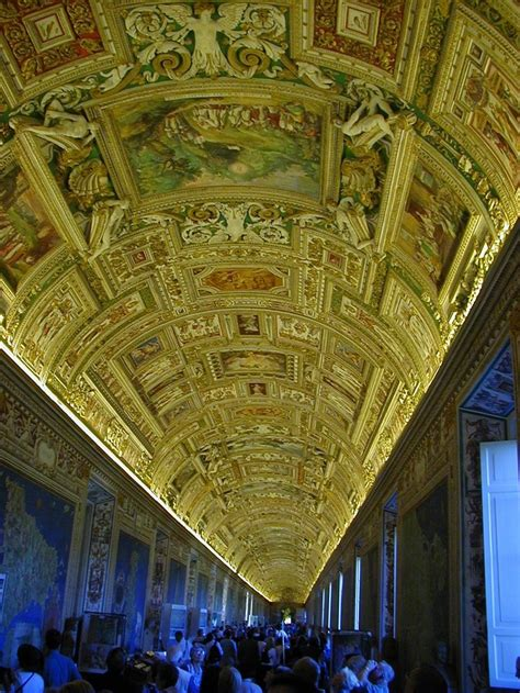 gold ceiling in the vatican museum all things italian