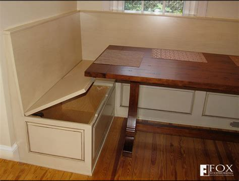 bench nook bench storage under the breakfast nook fox woodworking