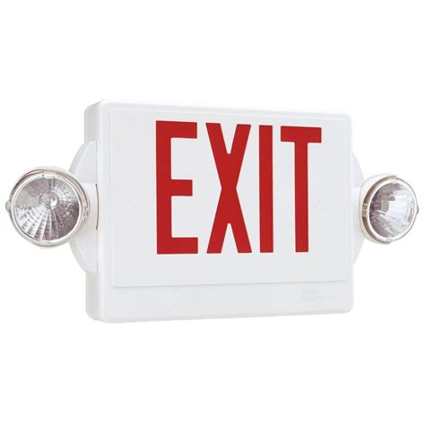 lithonia lighting emergency lights lithonia lighting quantum 2 light white and red exit sign