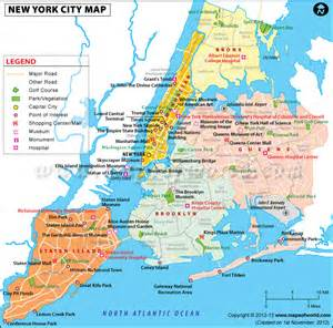 A Map Of New York City by Nyc Boroughs Map Jpg Travelquaz Com