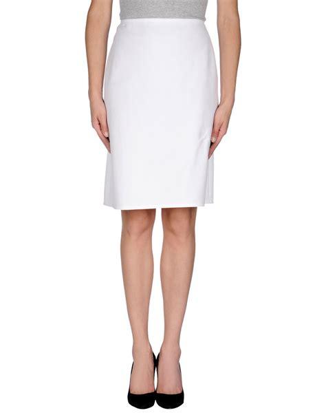 valentino knee length skirt in white save 75 lyst