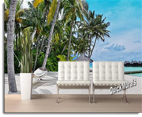 wall murals stick on tropical island resort peel and stick wall mural
