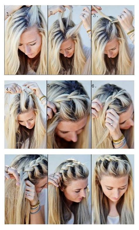 hairstyles and braids tutorial make a half up side french braid hairstyles tutorial