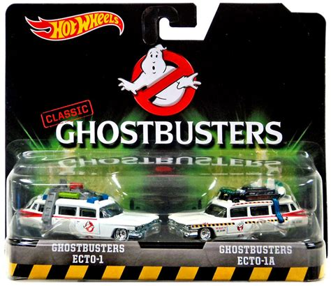Promo Hotwheels Retro Ghostbuster Ecto 1 Car wheels ghostbusters ecto 1 ecto 1a diecast vehicle 2 pack on sale at toywiz