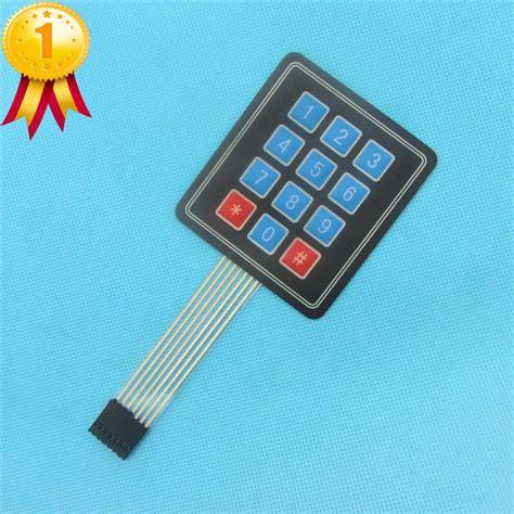 Keypad Membrane Matrix 12 10pcs 4x3 matrix array 12 key membrane switch keypad