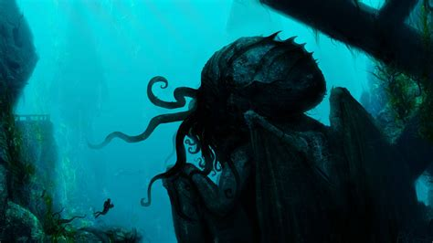 horror desktop backgrounds windows 10 cthulhu wallpapers wallpaper cave