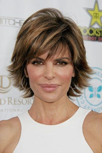 highlights women over fifty lisa rinna short celebrity hairstyles for women over 50 l