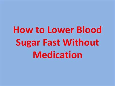 blood sugar fast  medication