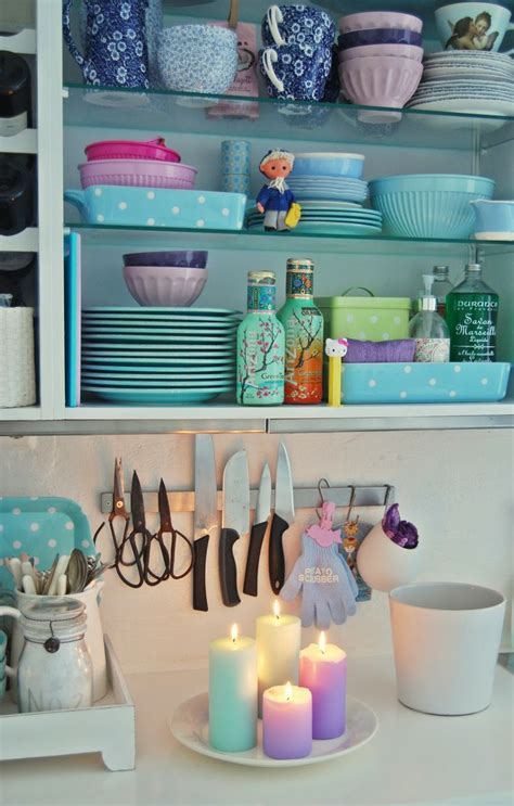 pastel kitchen vignette crafts decor pinterest