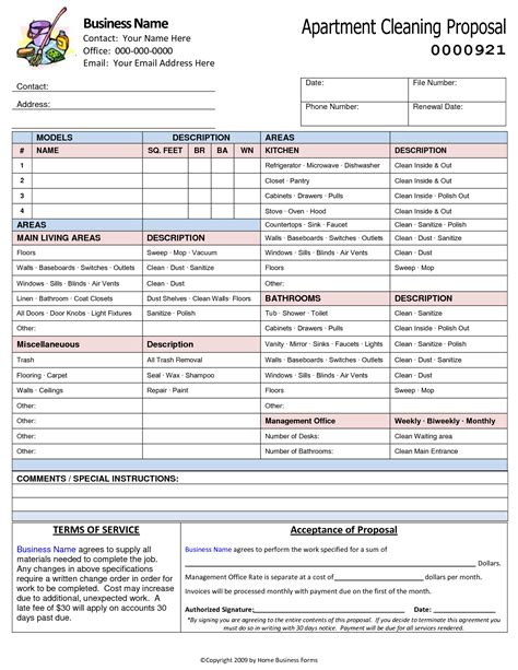 Exles Of Bid Sheet For Commercial Cleaning Autos Post Cleaning Bid Template