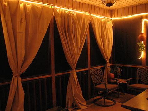 Outdoor Curtains For Screened Porch Drop Cloth Curtain Tutorial For The Screened In Patio
