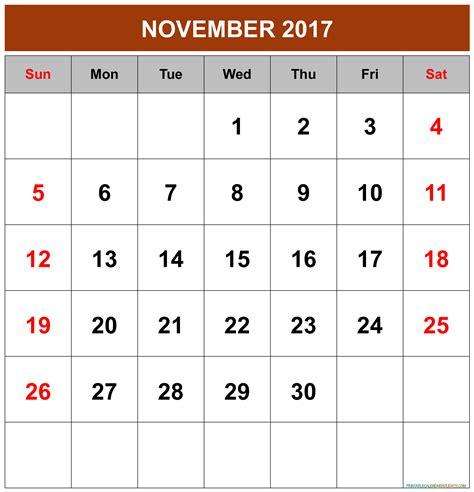 november 2016 calendar printable printable 2017 calendar november 2017 calendar archives free printable calendar