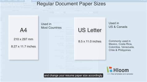 change paper size   microsoft word resume