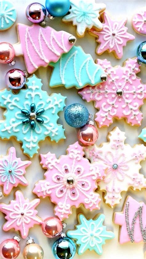 girly winter wallpaper winter cookies food pinterest