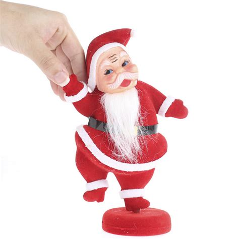 retro inspired santa figurine table decor christmas