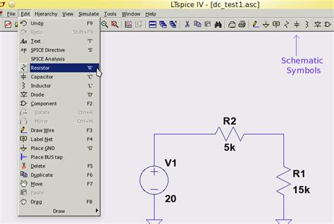 measure voltage across resistor ltspice ltspice dc analysis