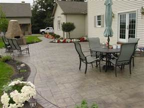 Stamped Concrete Backyard Ideas Photo Gallery Concrete Patios Orrville Oh The