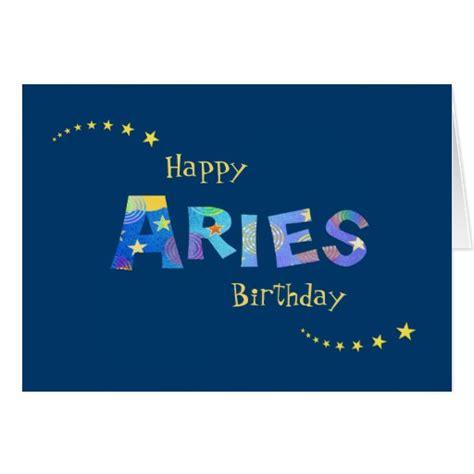 How To Sign Birthday Card Fun Aries Zodiac Sign Birthday Greeting Greeting Card Zazzle