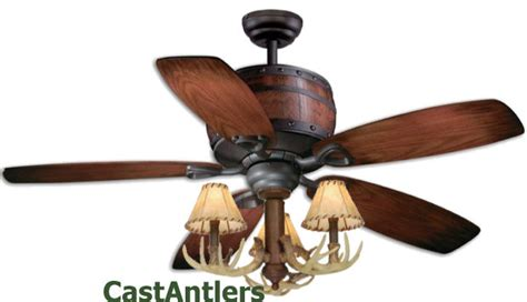 Antler Ceiling Fan With Light Standard Size Fans 52 Quot Reproduction Antler Barrel Ceiling Fan Rustic Lighting And Decor From