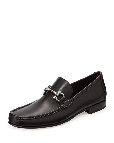 loafers ferragamo ferragamo giordano calfskin gancini loafer in black for