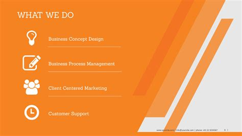 powerpoint themes free download orange orange powerpoint template business profile powerpoint