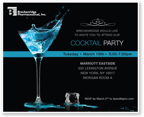 cocktail party invitation custom corporate event ecards and electronic invitations