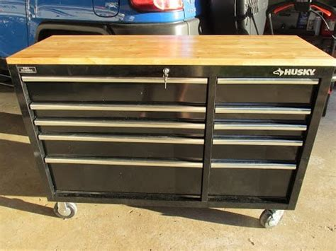 Rent To Own Husky 52 Inch 13 Drawer 1 Door Tool Chest And by Husky 52 In 10 Drawer Mobile Workbench With Solid Wood