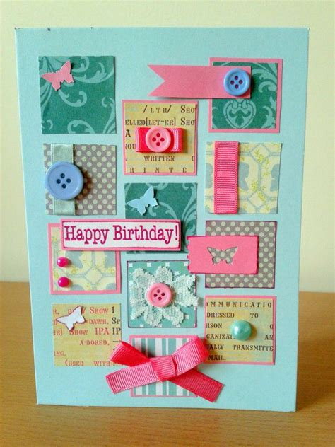 Unique Handmade Cards For Birthday - unique handmade happy birthday card light by