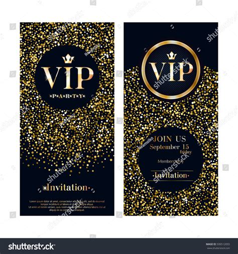 Club Card Flyer Templates by Vip Club Premium Invitation Card Stock Vector