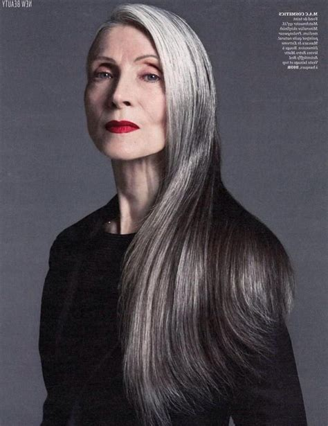 hairstyles for turning grey 15 best ideas of long hairstyles on older women