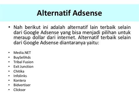 alternatif google adsense terbaik membayar lebih tinggi alternatif google adsense terbaik