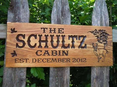 Rustic Cabin Signs by Cabin Sign Last Name Personalized Wooden Carved Rustic