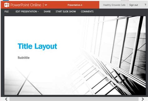 business contrast widescreen template for powerpoint online