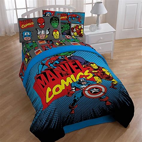 superhero bedding sets buy disney 174 marvel heroes quot super heroes quot printed twin full comforter from bed bath