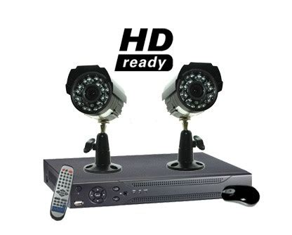 2 camera surveillance system with 2 outdoor infrared