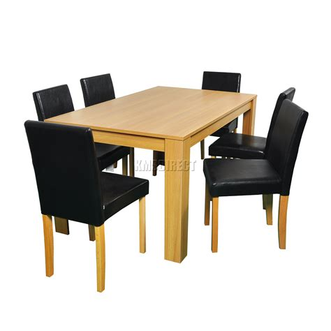 wooden table leather chairs westwood wooden dining table and 4 or 6 pu faux leather