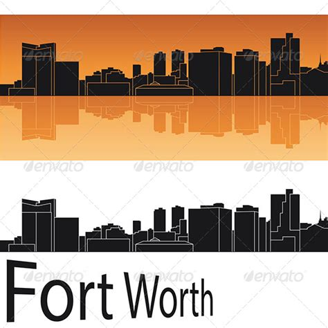 tattoo expo fort worth fort worth ssyline in orange background graphicriver