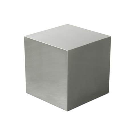 stainless steel cube table by gus modern   available at