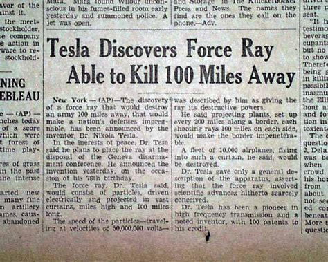 Tesla Teleforce Nikola Tesla Teleforce Charged Particle Beam