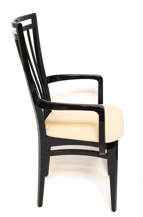 black lacquer dining room chairs italian black lacquer dining chairs at 1stdibs